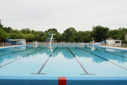 Empty Olympic Sized Pool I Stock 145130493 Essentials Collection